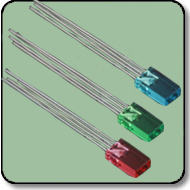 2mmx5mm Rectangular RGB LED Anode Clear