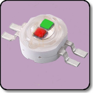 6W Green & Red Bi-Color Power LED (140 Degree)