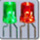 3mm Flat Top Green & Red LED Milky Diffused Anode