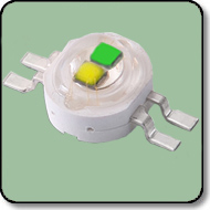 6W High Power Green & Yellow Power LED (140 Degree)