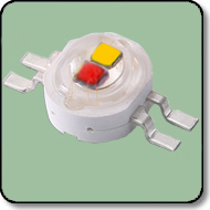 6W Power Red & Yellow LED Milky Len