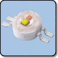 6W High Power White & Deep Red 660nm LED (140 Degree)