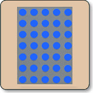 Dot Matrix LED - 5x7 Super Blue 17.78mm (0.7 Inch)