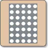 17.78mm (0.7 Inch) White 5x7 Dot Matrix