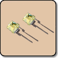 0.5W LED 5mm Yellow - Milky 9,000 mcd (140 Degree )