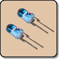 5mm LED 1W LED - 5mm Blue High Power LED