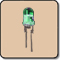 0.5W 5mm LED Diodes - 5mm Power LED Green