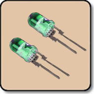 5mm LED 1W Green LED - 5mm Green High Power LED