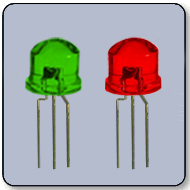 5mm Bicolor Green & Red LED 130 Degree Clear