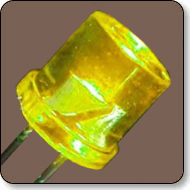 5mm Cylindrical Amber LED Lamp