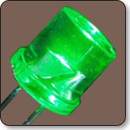 5mm Cylindrical Green LED Lamp