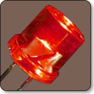 5mm Cylindrical Red LED Lamp