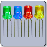 3mm Flat Top Clear LED - Red & Yellow Cathode
