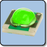 1W SMD LED Green: 80 Lumens