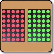 Dot Matrix LED - 5 x 7 Bicolor Red & Green 17.78mm (0.7 Inch) Black Background