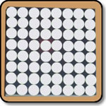 White Dot Matrix - 8x8 Cathode Row Display