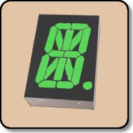 Alpha Numeric LED 0.8'' (20.32mm) Anode - Green: 40,000 ucd