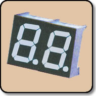 Double Digit White LED Display - 0.56 Inch (14.20mm) Anode