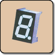 Single Digit White LED Display - 1.0 Inch (25.40mm) Cathode
