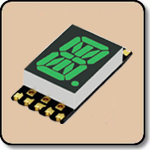 SMD Alpha Numeric Green LED Display -  0.4 Inch (10.20mm) Anode