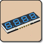 SMD 7 Segment Blue LED Display -  Four Digit 0.2 Inch (5.08mm) Anode