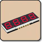 SMD 7 Segment Red LED Display -  Four Digit 0.2 Inch (5.08mm) Cathode