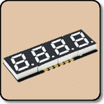 SMD 7 Segment White LED Display -  Four Digit 0.2 Inch (5.08mm) Cathode