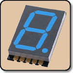 SMD 7 Segment Blue LED Display -  Single 0.8 Inch (20.30mm) Anode