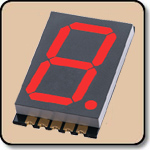 SMD 7 Segment Red LED Display -  Single 0.8 Inch (20.30mm) Anode