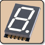 SMD 7 Segment White LED Display -  Single 0.8 Inch (20.30mm) Anode