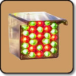 LED Cluster - 40mm Square Bicolor