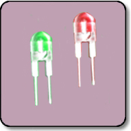 0.5W 8mm Power Bicolor Green & Red LED Lamp