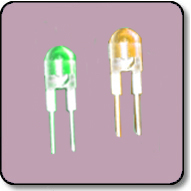 0.5W 8mm Power Bicolor Green & Yellow LED Lamp