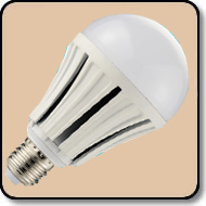 150W A21 Warm White LED Bulb