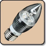 Candelabra 25W LED Bulb Warm White