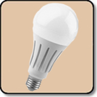 A23 200W LED Bulb  Warm White 2860 Lumens