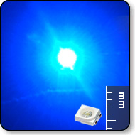 SMD LED X-Bright Blue: 8 Lumens