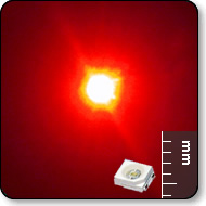 Power SMD LED - Mega Bright Red